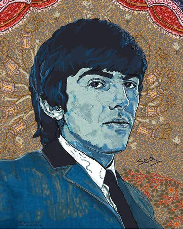 George Harrison Poster featuring the painting George Harrison by Suzanne Gee