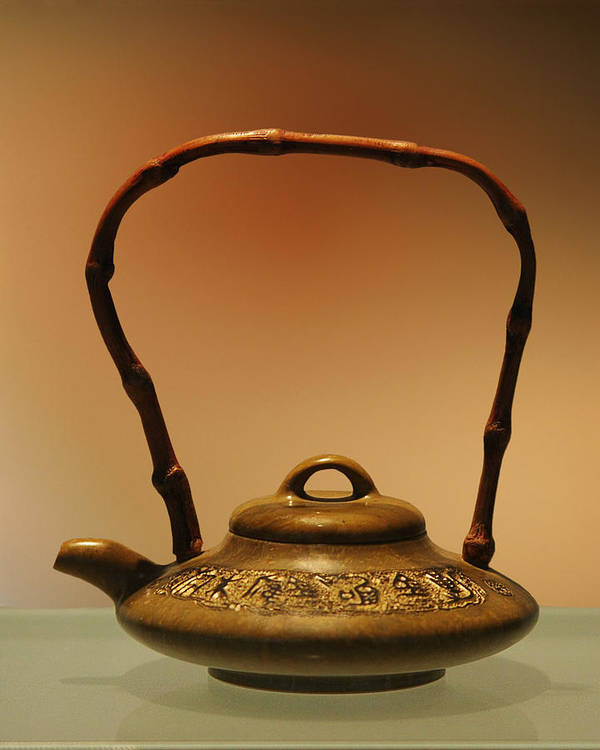 Antique Poster featuring the photograph Chinese Teapot - A Symbol In Itself by Christine Till