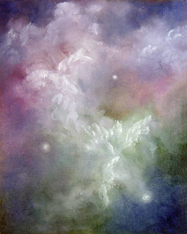 Angel Poster featuring the painting Dancing Angels by Marina Petro
