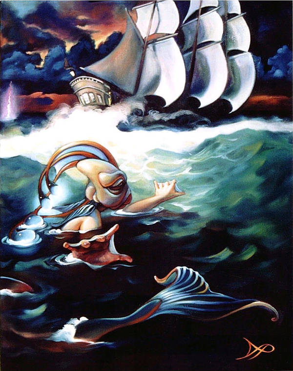Seafarer Poster featuring the painting Finnegan's Quest by Patrick Anthony Pierson
