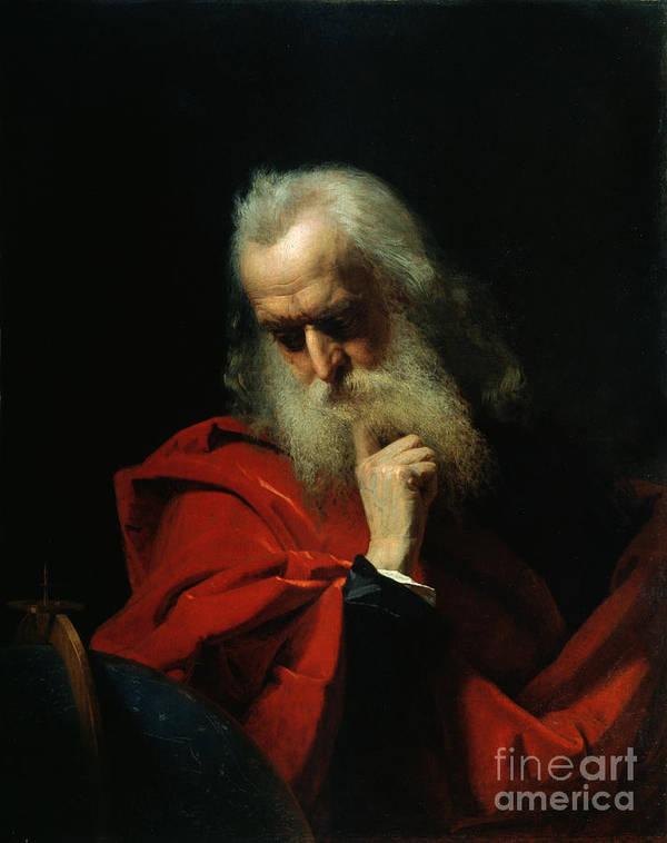 Galileo Poster featuring the painting Galileo Galilei by Ivan Petrovich Keler Viliandi