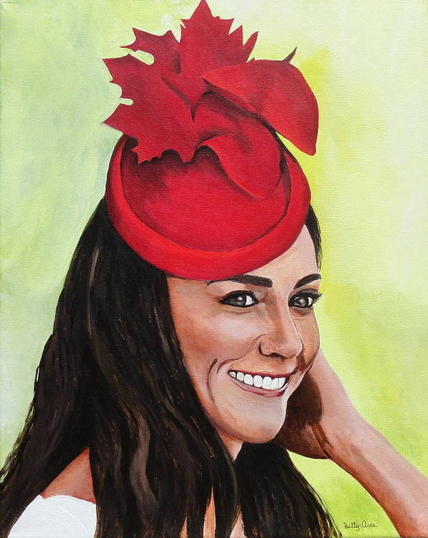 British Royalty Poster featuring the painting Katherine Duchess Of Cambridge by Betty-Anne McDonald