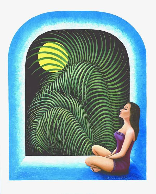 Yoga Relaxation Poster featuring the painting Meditation by Belle Perez-de-Tagle