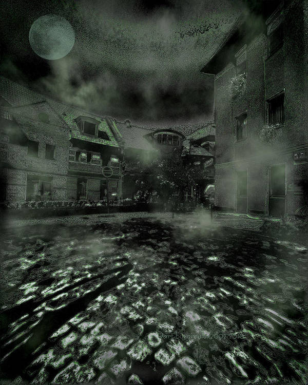 Rambling Poster featuring the digital art Midnight Ramblings by Mimulux patricia no