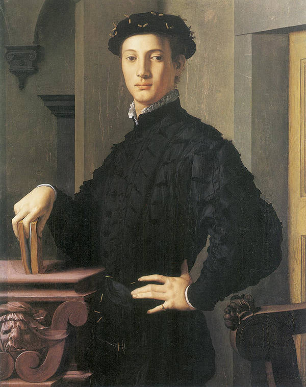Agnolo Bronzino Poster featuring the painting Portrait Of A Young Man by Agnolo Bronzino