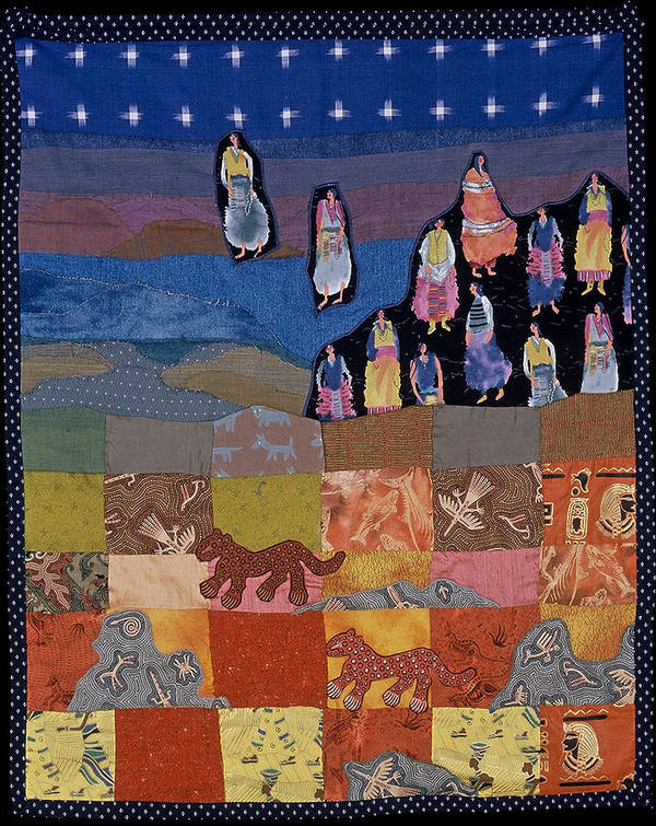 Quilt Poster featuring the tapestry - textile Sky Dancers by Roberta Baker
