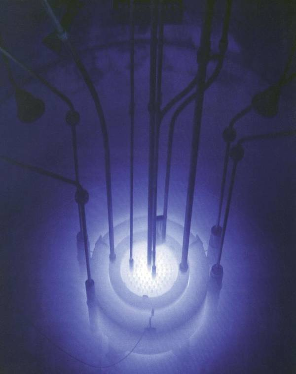 History Poster featuring the photograph The Blue Glow Of Nuclear Reactors by Everett