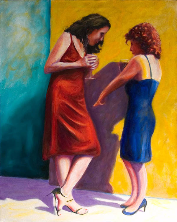Figurative Poster featuring the painting There by Shannon Grissom