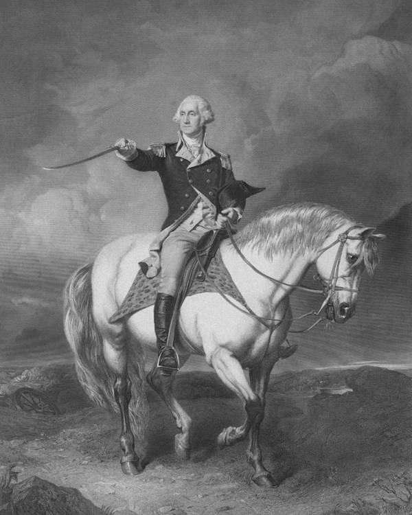 American Revolution Poster featuring the drawing Washington Receiving A Salute At Trenton by War Is Hell Store