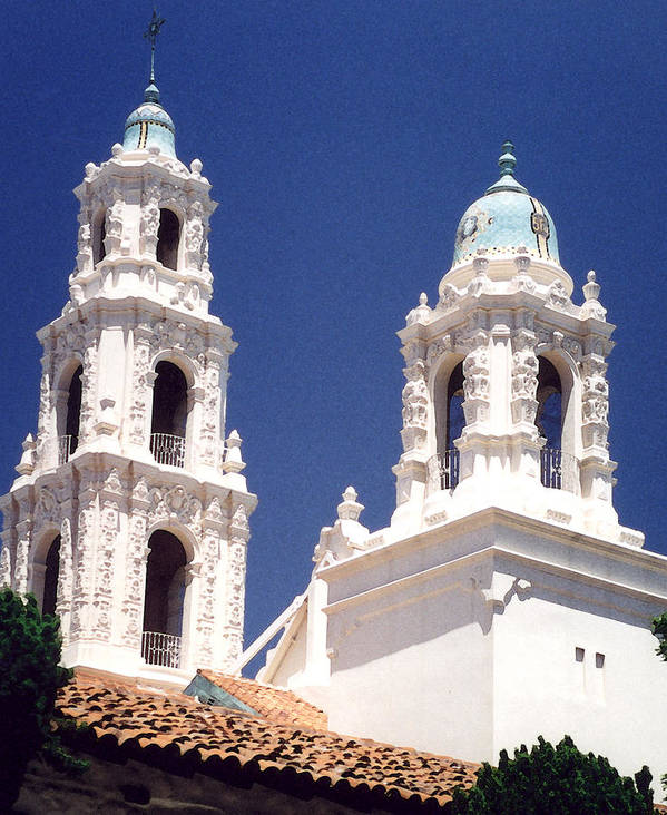 Bell Tower Poster featuring the photograph Bell Towers by Mary Bedy