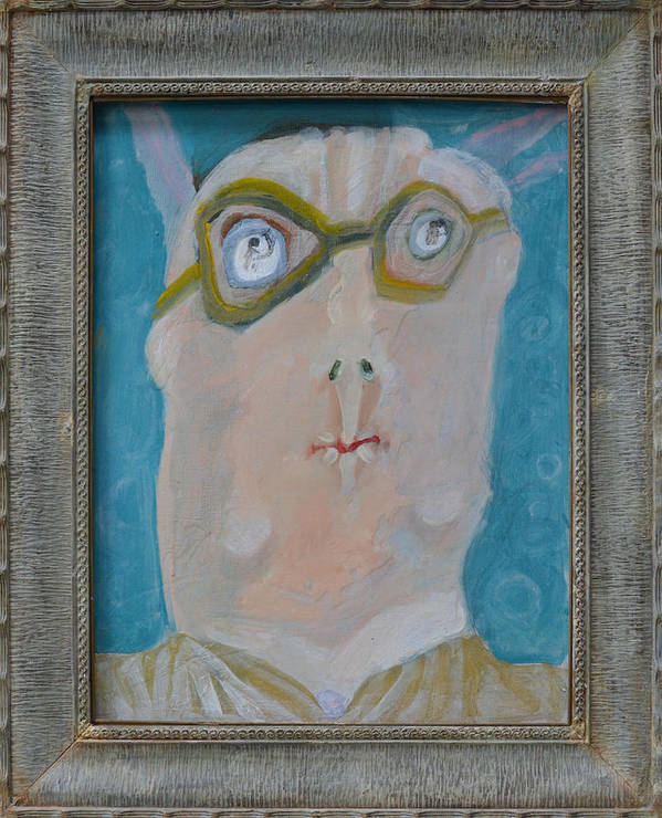 Abstract Poster featuring the painting John's Dad Seeing Babies Born - Framed by Nancy Mauerman
