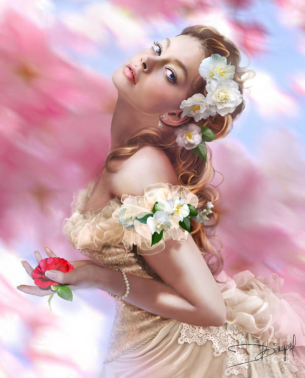 Adult Poster featuring the photograph Lady Of The Camellias by Drazenka Kimpel