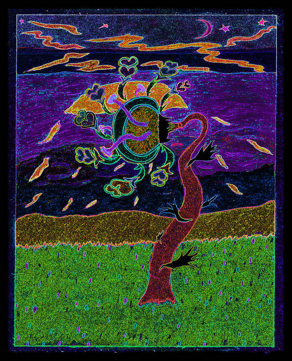 Ocean Poster featuring the photograph Ocean Side Flower At Sun Set  V3 by Kenneth James