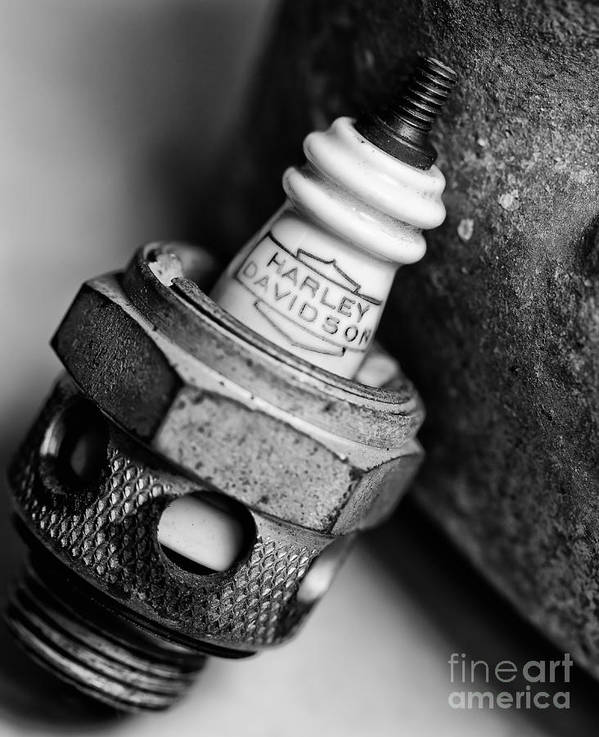 Motorcycle Spark Plugs Poster featuring the photograph Spark Plug 1 by Wilma Birdwell