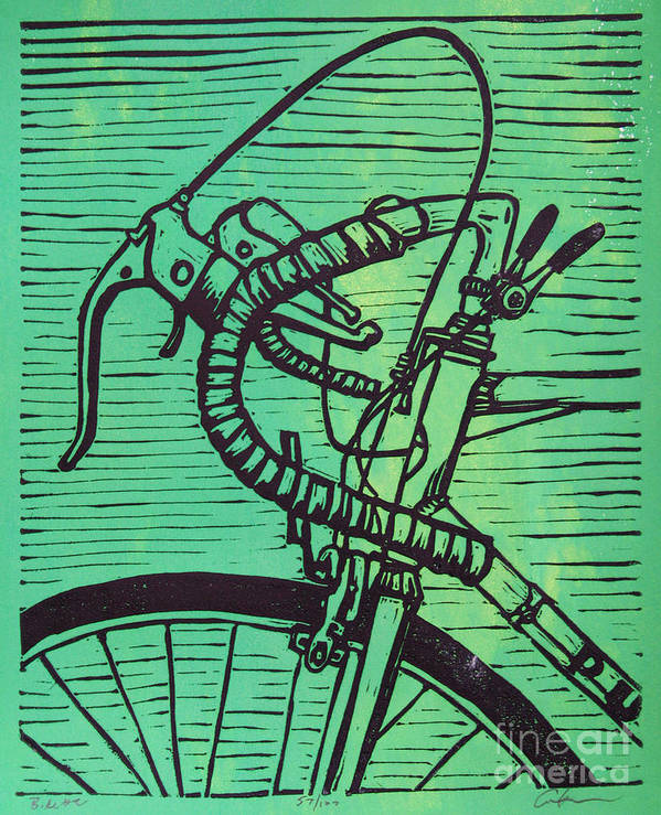 Print Poster featuring the drawing Bike 2 by William Cauthern