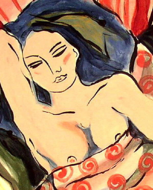 Art Art Print Poster featuring the ceramic art Afternoon Nap by Patricia Lazar