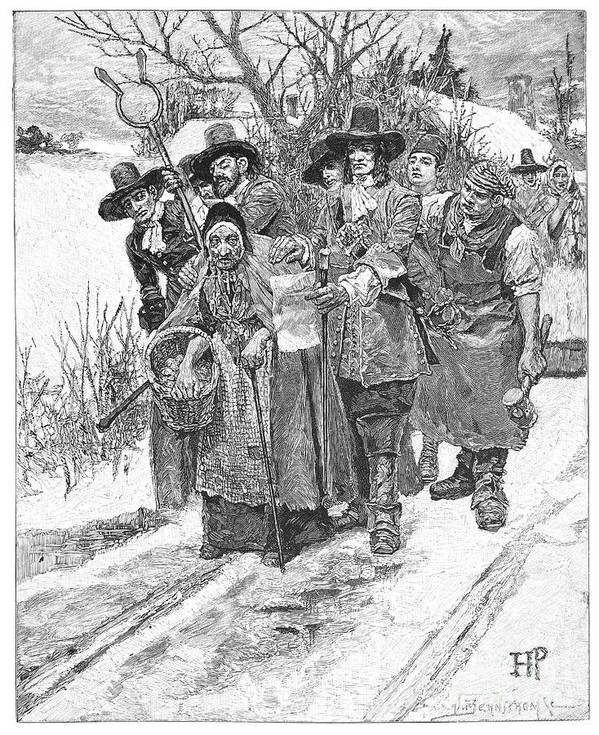 1692 Poster featuring the photograph Arresting A Witch, 1692 by Granger