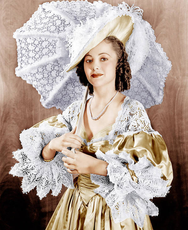 18th Century Poster featuring the photograph Captain Blood, Olivia De Havilland, 1935 by Everett