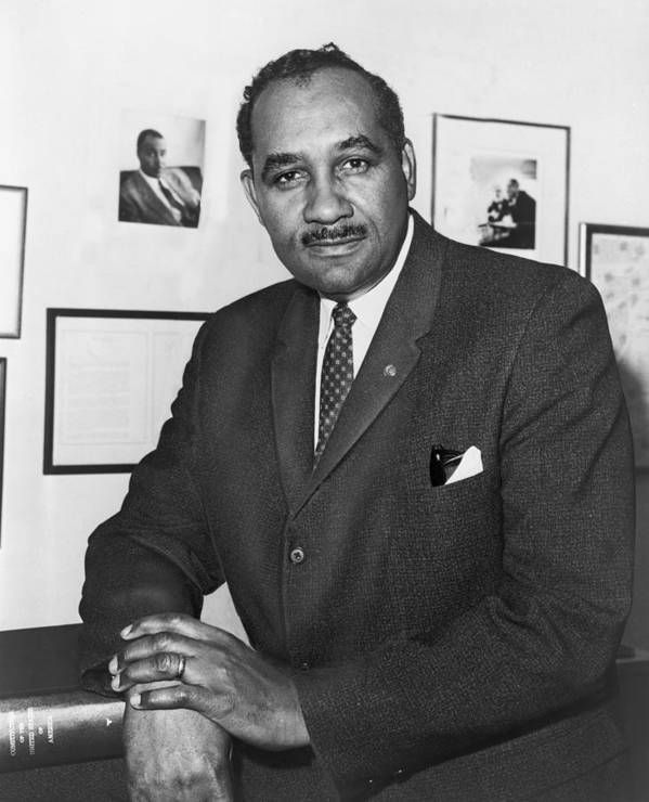 History Poster featuring the photograph Clarence Mitchell, Jr., Head by Everett