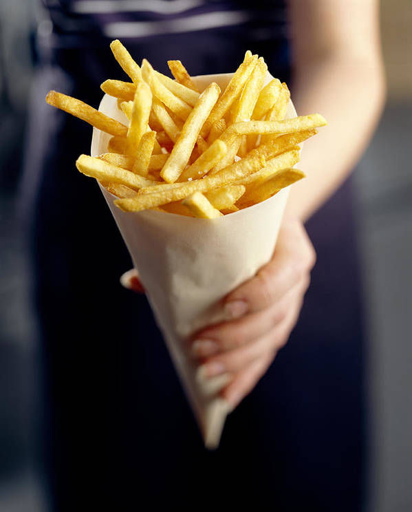 Processed Poster featuring the photograph French Fries by David Munns