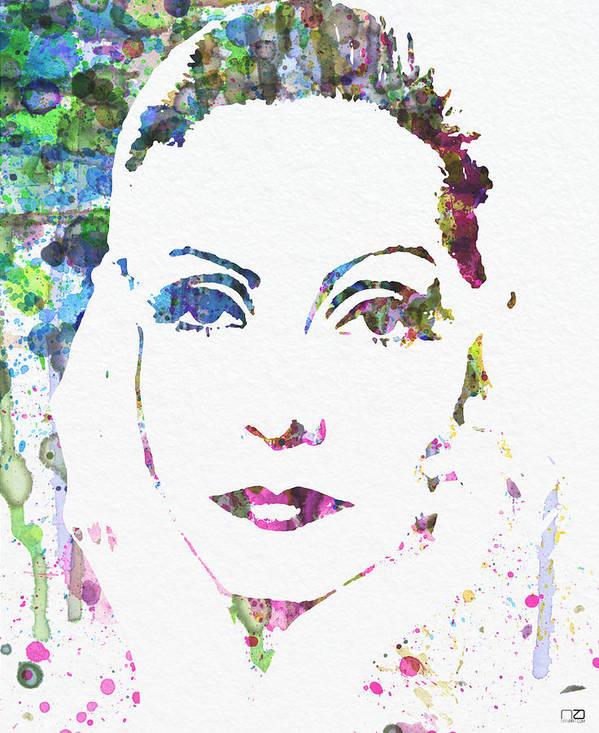 Ingrid Bergman Poster Poster featuring the digital art Ingrid Bergman by Naxart Studio