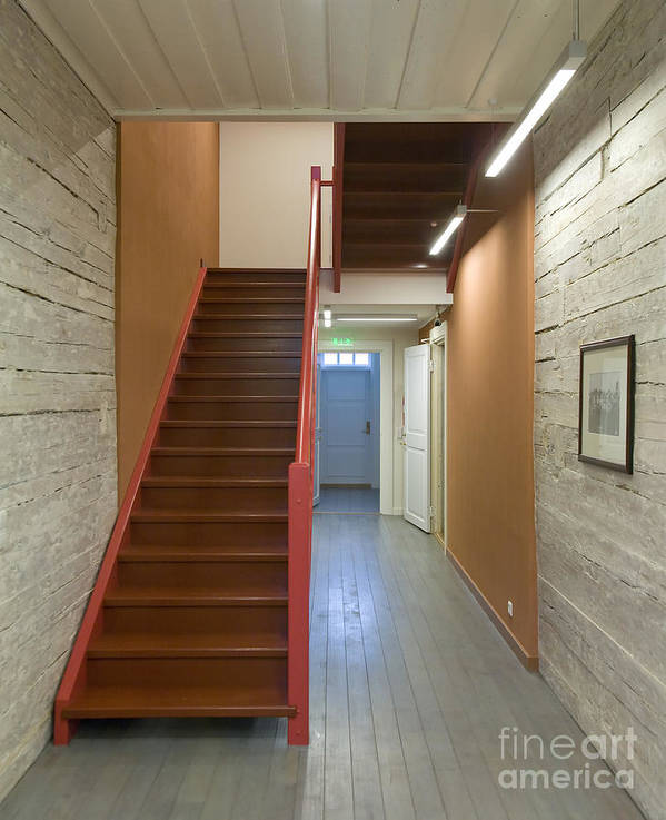 Architecture Poster featuring the photograph Staircase In Old Building by Jaak Nilson