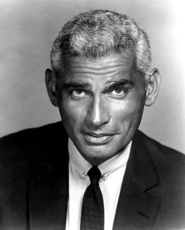 1950s Portraits Poster featuring the photograph The Lady Takes A Flyer, Jeff Chandler by Everett