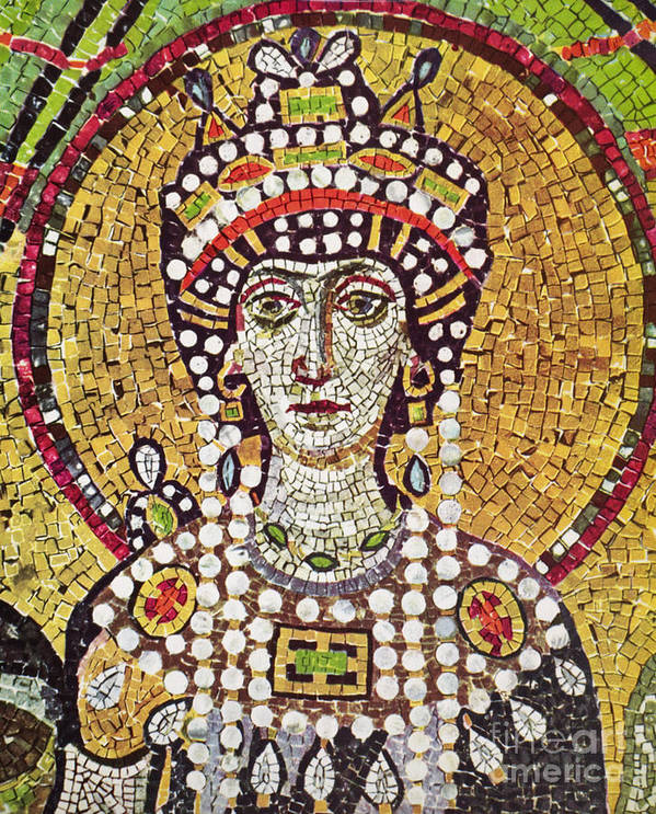 6th Century Poster featuring the painting Theodora (c508-548) by Granger