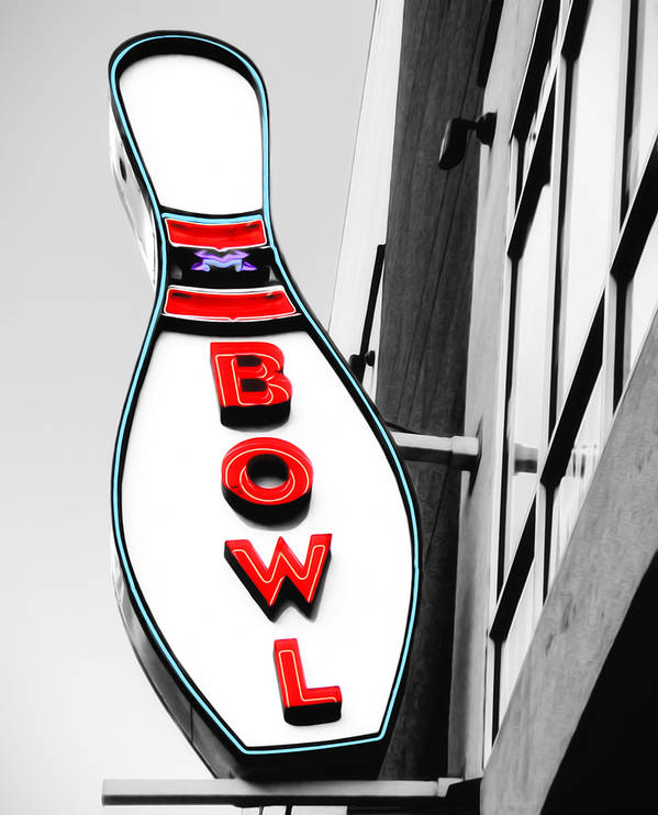 Bowl Poster featuring the photograph Bowling by Steven Michael