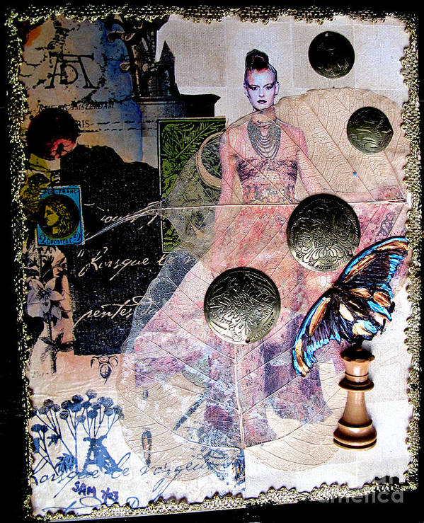 Butterfly Poster featuring the mixed media Butterfly by Sandy McIntire