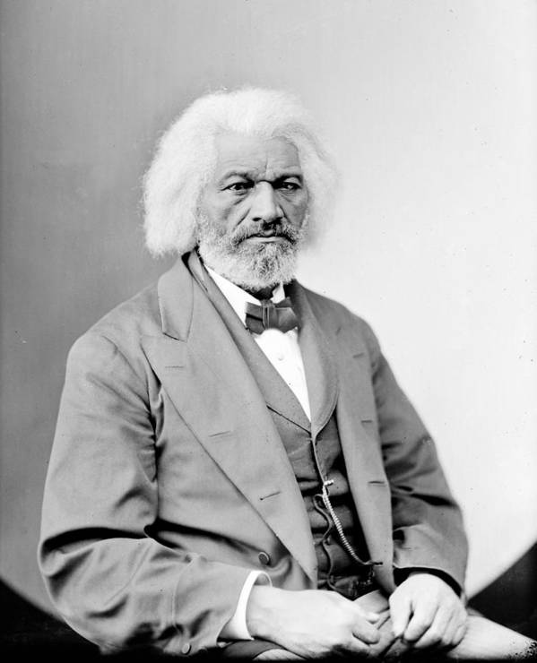 1800s Portraits Poster featuring the photograph Frederick Douglass 1818-1895, African by Everett