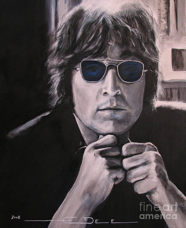John Lennon Poster featuring the painting JL1 by Eric Dee