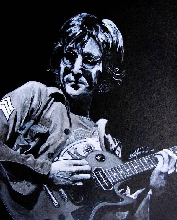 John Poster featuring the painting John Lennon by Luke Morrison