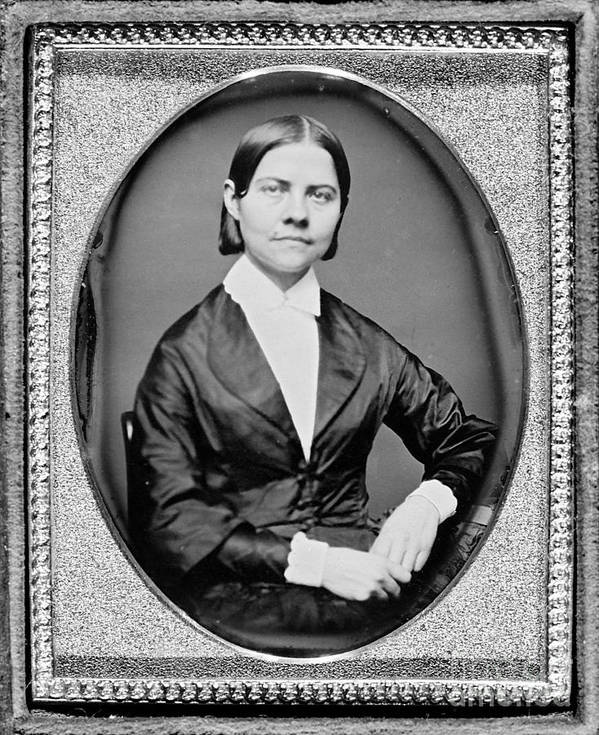 History Poster featuring the photograph Lucy Stone, American Abolitionist by Photo Researchers