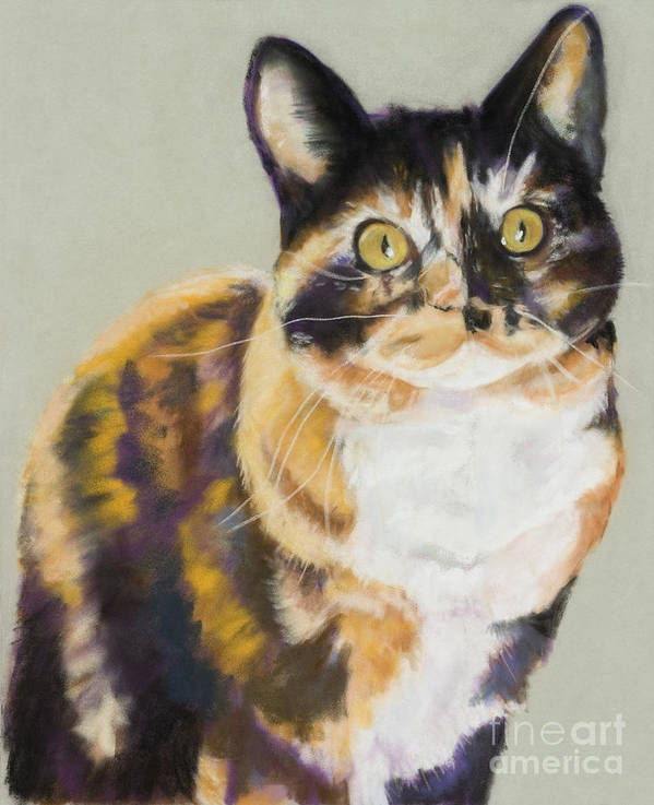 Calico Poster featuring the painting Maggie Mae by Pat Saunders-White