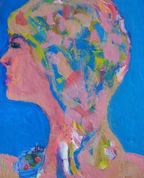 Abstract Poster featuring the painting My Teacher--psychological Child Abuser by Judith Redman