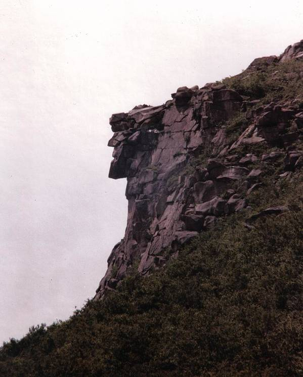 Old Man Of The Mountain Poster featuring the photograph Old Man Of The Mountain by Wayne Toutaint