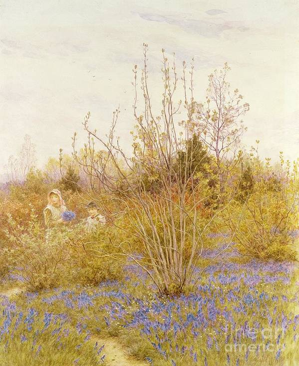 The Poster featuring the painting The Cuckoo by Helen Allingham