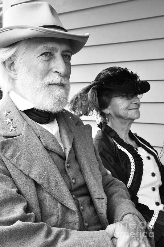 General Robert E. Lee Poster featuring the photograph General Lee And Mary Custis Lee by Thomas R Fletcher