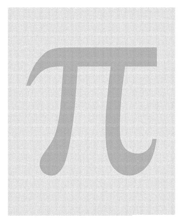 Pi Poster featuring the digital art 100 Thousand Pieces Of Pi by Ron Hedges
