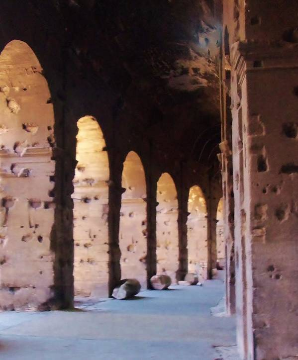 Arches Poster featuring the photograph Arches Of The Roman Coliseum by Jan Moore