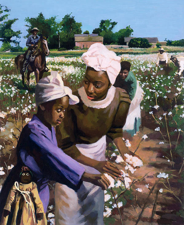 Mother Poster featuring the painting Cotton Pickers by Colin Bootman