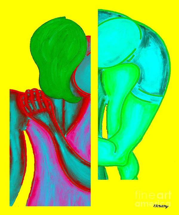 Pop Art Poster featuring the painting Goodbye by Patrick J Murphy