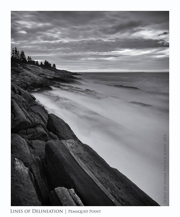 Maine Poster featuring the photograph Lines Of Delineation by Chad Tracy