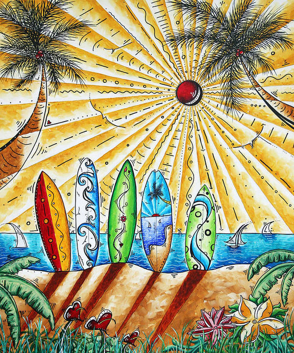 Tropical Poster featuring the painting Summer Break By Madart by Megan Duncanson