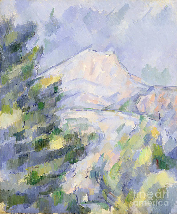 Mont Poster featuring the painting Mont Sainte-victoire by Paul Cezanne