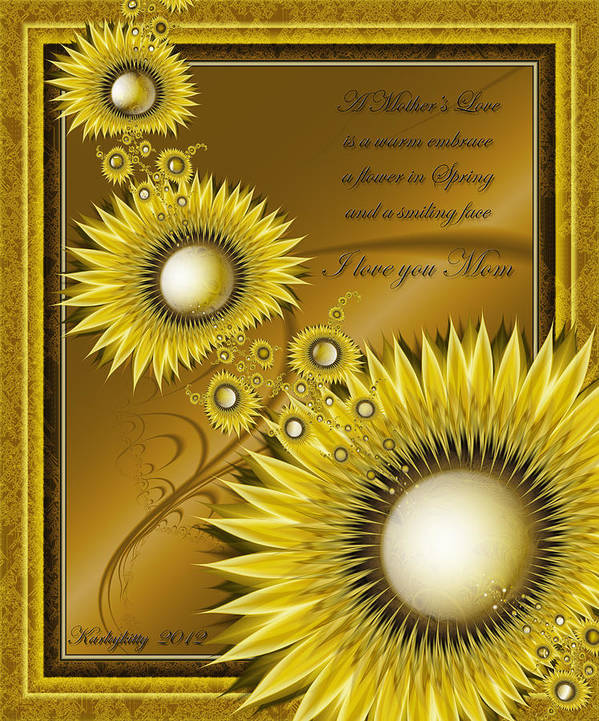 Flower Poster featuring the digital art For Mom by Karla White