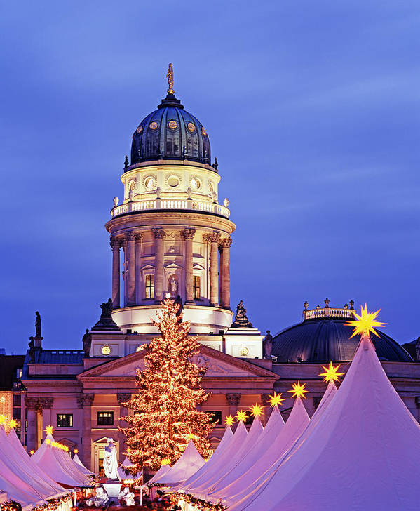 Vertical Poster featuring the photograph German Christmas Market by Murat Taner