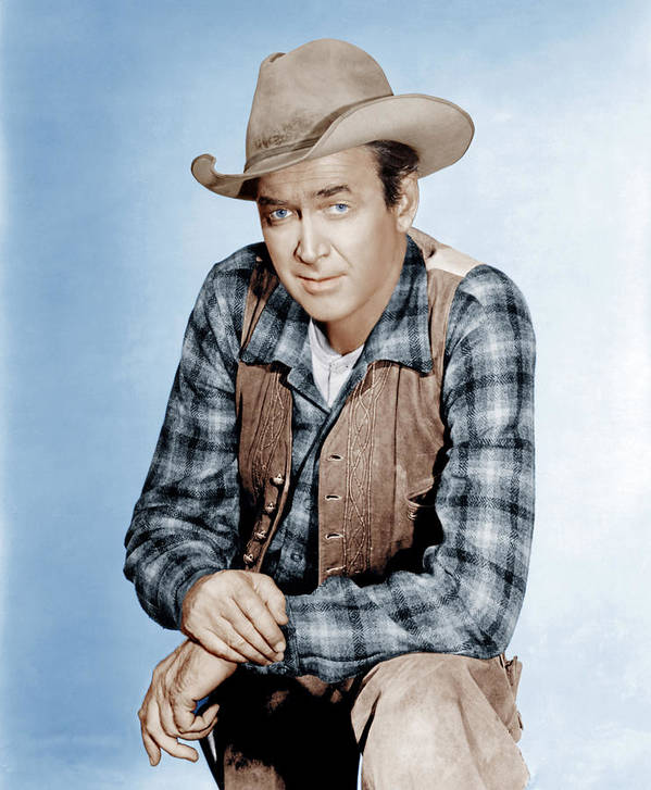 1960s Portraits Poster featuring the photograph Two Rode Together, James Stewart, 1961 by Everett