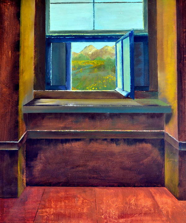 Trompe L'oeil Poster featuring the painting Open Window by Michelle Calkins